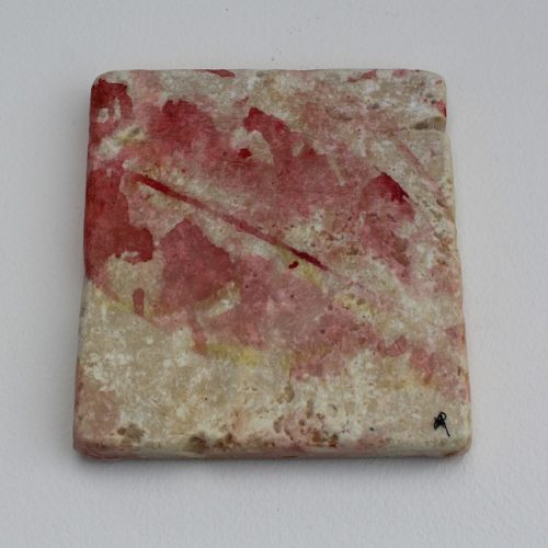Art coaster of light coloured autumn leaf design