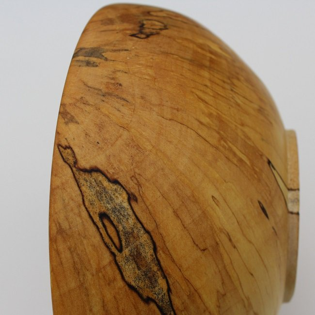 Bowl made of birch wood showing spalted detail